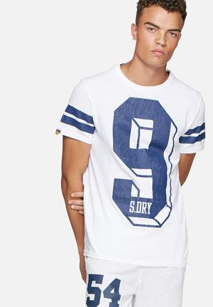 Superdry. Big Number Tee T-Shirts & Vests White & Purple