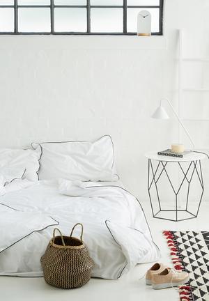 Sixth Floor Black Piping Duvet Set Bedding 200tc Cotton