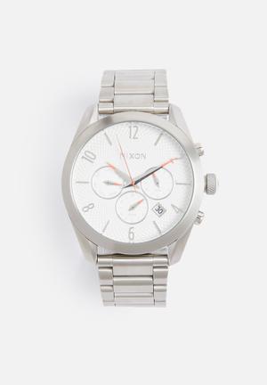 Nixon Bullet Chrono Watches Silver / White