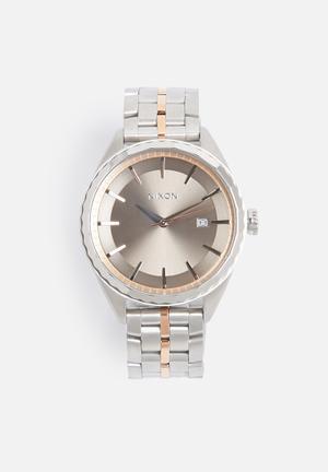 Nixon Minx Watches Silver / Rose Gold