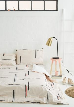 Sixth Floor Matchsticks Duvet Set Bedding 100% Cotton