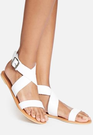 Dailyfriday Dani Leather Sandal White