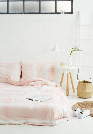 Sixth Floor Tie Dye Knitted Duvet Set Bedding 100% Cotton