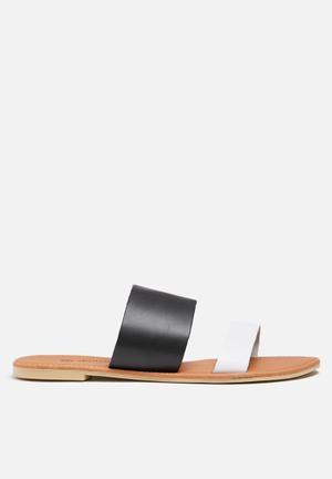 Dailyfriday Amanda Leather Sandal Black & White