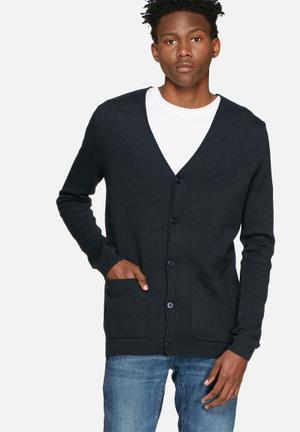 Selected Homme Austin Cardigan Knitwear Navy