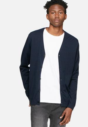 Jack & Jones Premium Lucas Knit Cardigan Knitwear Navy