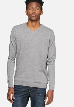 Jack & Jones Premium Lucas Knit Knitwear Grey