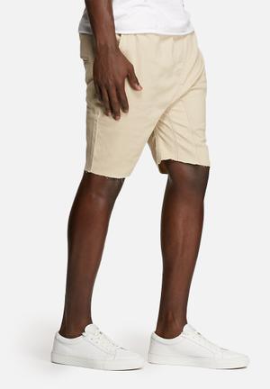 Basicthread Deco Shorts Stone