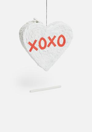 Sixth Floor XOXO Pinata Partyware Paper Mache & Tissue Paper