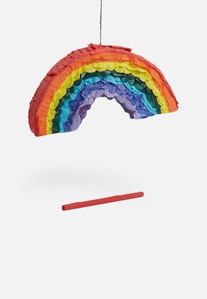 Sixth Floor Rainbow Pinata Partyware Paper Mache & Tissue Paper