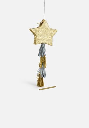 Sixth Floor Star Pinata Partyware Paper Mache & Tissue Paper
