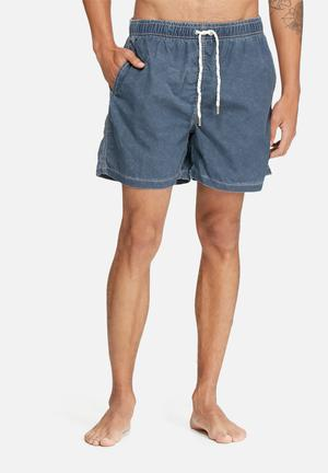 Bellfield Rolly Basic Swimshort Swimwear Navy