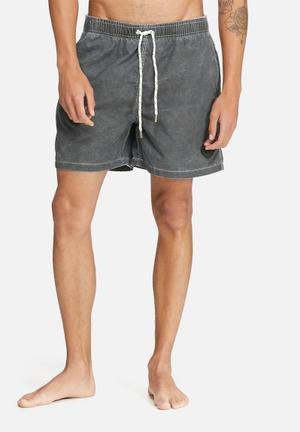 Bellfield Rolly Basic Swimshorts Swimwear Charcoal