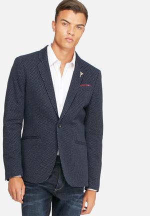 Selected Homme Paulo Dot Blazer Jackets & Coats Navy