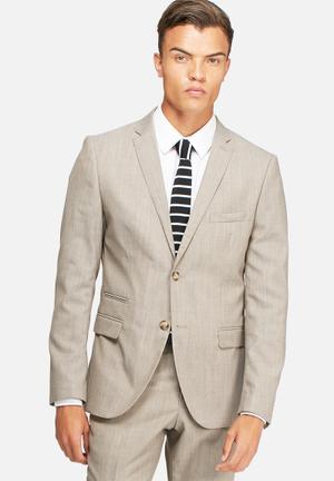 Selected Homme Buffalo Blazer Jackets & Coats Stone