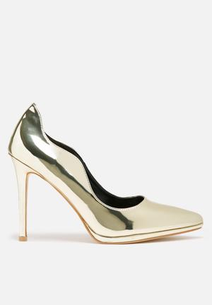 Dailyfriday Metal Heels Gold
