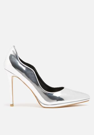Dailyfriday Metal Heels Silver