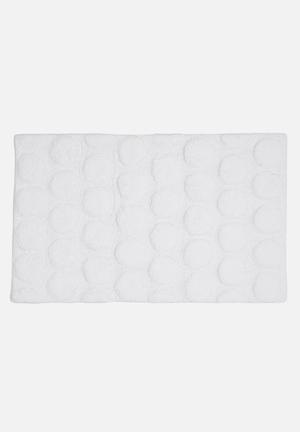 Linen House Dot Bathmat Cotton With Rubber Backing