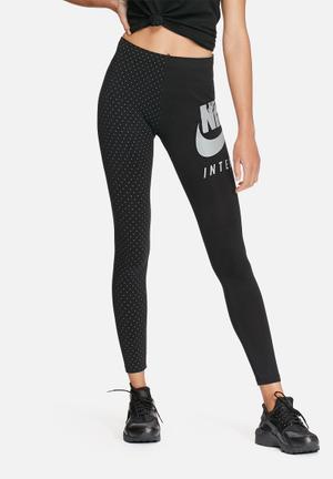 Nike International Leggings Bottoms Black & Grey
