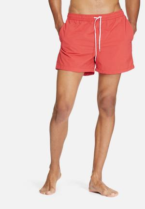 Jack & Jones Jeans Intelligence Flow Swim Shorts Swimwear Red