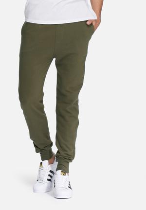 Basicthread Neil Slim Sweat Pants Sweatpants & Shorts Green