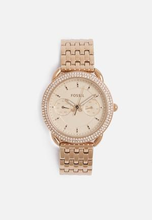 Fossil Tailor Watches Rose Gold