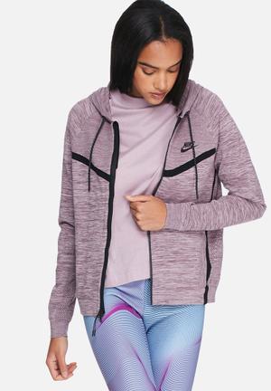 Nike Tech Knit Windrunner Hoodies & Jackets Purple