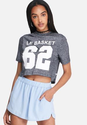 Noisy May Bull Cropped Top T-Shirts, Vests & Camis Black