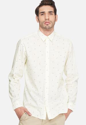 Selected Homme Arrow Shirt Cream & Black