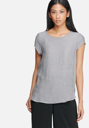 Vero Moda Boca Summer Top T-Shirts, Vests & Camis Black & Grey