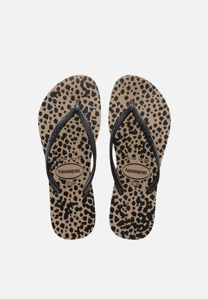 Havaianas Women's Slim Animals Sandals & Flip Flops Rose Gold & Black