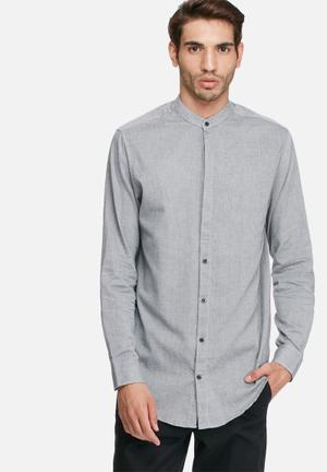 Selected Homme Bone Regular Fit Shirt  Grey