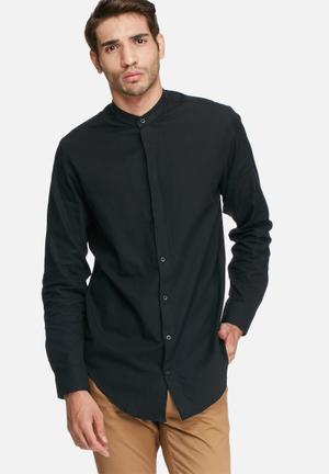 Selected Homme Bone Regular Fit Shirt Black