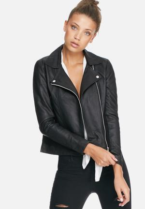 Y.A.S Sophie Leather Jacket Black
