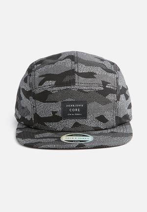 Jack & Jones Footwear And Accessories Flex Cap Headwear Black & White