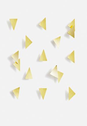 Umbra Confetti Triangles Accessories Brass