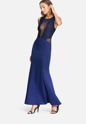 Dailyfriday Fish Tail Maxi Dress Occasion Navy