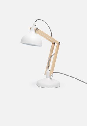 Sixth Floor Urban Table Lamp Lighting Powder Coated Metal With Wood