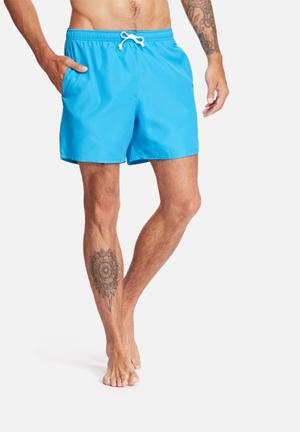 Basicthread Swimshort Basic Swimwear Turquoise