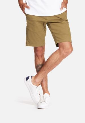 Basicthread Slim Fit Chino Shorts Stone