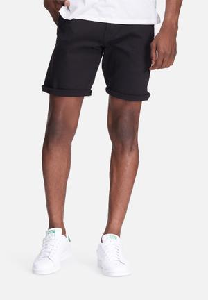 Basicthread Slim Fit Chino Shorts Black