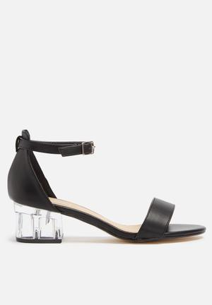 Truffle Arora Clear Heel Black
