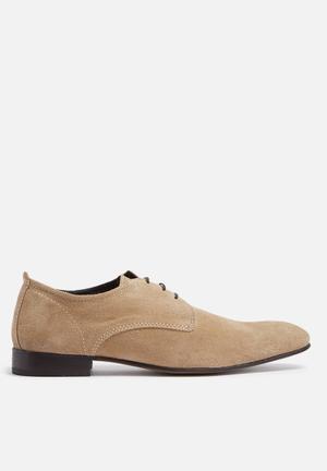 Base London Business Suede Derby Formal Shoes Beige