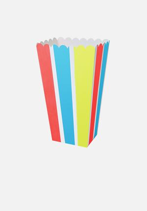 Meri Meri Neon Stripe Treat Boxes Partyware
