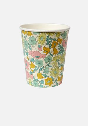 Liberty poppy paper cups