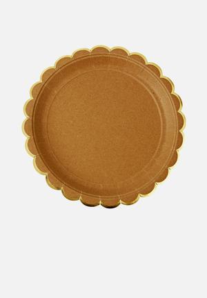 Meri Meri Kraft Plates Partyware Paper