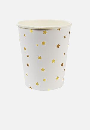 Meri Meri Gold Stars Party Cups Partyware Paper