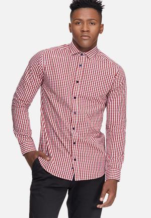 Gingham check slim fit shirt