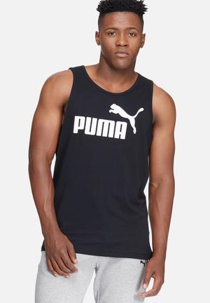 PUMA ESS No.1 Logo Tank T-Shirts Black & White