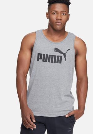 PUMA ESS No.1 Logo Tank T-Shirts Grey & Black